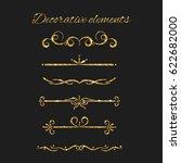 ornate design. gold text... | Shutterstock . vector #622682000