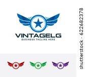 vintage guard  vector logo... | Shutterstock .eps vector #622682378