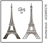 eiffel tower isolated vector... | Shutterstock .eps vector #622685270