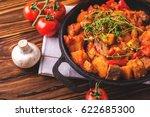 traditional hungarian goulash... | Shutterstock . vector #622685300