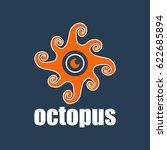 vector sign symbol octopus.   Shutterstock .eps vector #622685894
