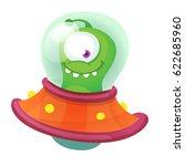 cartoon flying saucer | Shutterstock .eps vector #622685960