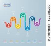 infographics timeline template... | Shutterstock .eps vector #622686230
