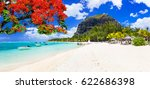 beautiful beaches of sunny... | Shutterstock . vector #622686398
