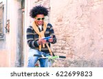 latin american man with afro... | Shutterstock . vector #622699823