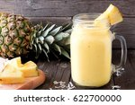 tropical pineapple smoothie in... | Shutterstock . vector #622700000