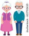senior married couple husband... | Shutterstock .eps vector #622702610