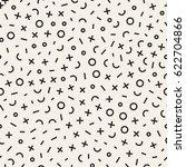 retro geometric line shapes... | Shutterstock .eps vector #622704866