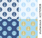 set of seamless pattern with... | Shutterstock .eps vector #622705838