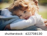 child on father's shoulder in... | Shutterstock . vector #622708130