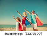 ready to travel  family of... | Shutterstock . vector #622709009