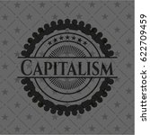 capitalism dark emblem. retro | Shutterstock .eps vector #622709459