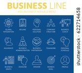thin line icons set of business ... | Shutterstock .eps vector #622714658