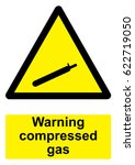 black and yellow warning sign... | Shutterstock .eps vector #622719050