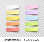 post note stickers isolated on... | Shutterstock .eps vector #622719623
