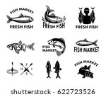 fish logo for fish market.... | Shutterstock .eps vector #622723526