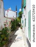 alley of ars en re | Shutterstock . vector #622725410