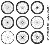 bicycle wheel symbol vector.... | Shutterstock .eps vector #622730354