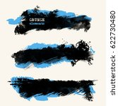 vector set of two color brush... | Shutterstock .eps vector #622730480