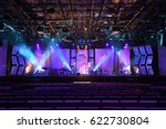 stage with lights and musical... | Shutterstock . vector #622730804