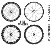 bicycle wheel symbol vector.... | Shutterstock .eps vector #622733888