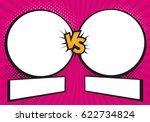 versus letters fight... | Shutterstock .eps vector #622734824