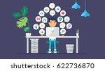 web social network concept for...   Shutterstock .eps vector #622736870