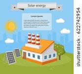 vector illustration solar... | Shutterstock .eps vector #622742954