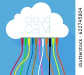 cloud crm solution  customer... | Shutterstock .eps vector #622745804