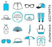 summer vacation set. summer...   Shutterstock .eps vector #622749974