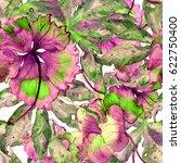 hand drawn seamless watercolor...   Shutterstock . vector #622750400