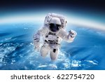 Astronaut Outer Space Over Planet - Fine Art prints