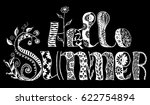 zentangle  lettering hello... | Shutterstock .eps vector #622754894