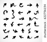 hand drawn arrows  vector set | Shutterstock .eps vector #622756154