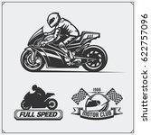 Set Of Racing Motorcycle...