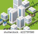 isometric 3d metropolis city... | Shutterstock .eps vector #622759580