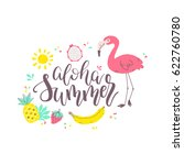 summer design sticker with... | Shutterstock .eps vector #622760780