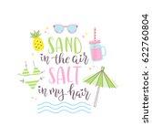 summer design sticker with... | Shutterstock .eps vector #622760804