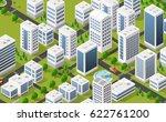 isometric 3d metropolis city... | Shutterstock .eps vector #622761200