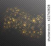 gold glitter sparkles wave...   Shutterstock .eps vector #622763828