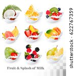 big collection icons of fruit... | Shutterstock .eps vector #622767359