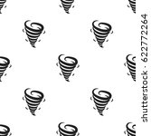 tornado icon in black style... | Shutterstock .eps vector #622772264