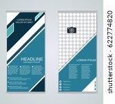 modern roll up business banners ... | Shutterstock .eps vector #622774820
