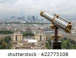 wet telescope on top the eiffel ... | Shutterstock . vector #622775108