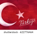 polygonal background turkey... | Shutterstock .eps vector #622776464