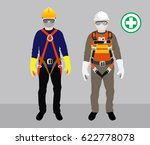 safety harness  | Shutterstock .eps vector #622778078