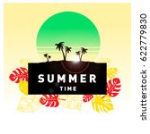 summer tropical backgrounds set ... | Shutterstock .eps vector #622779830