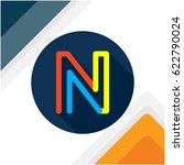 icon logo initials letter n | Shutterstock .eps vector #622790024