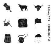 national symbols of scotland....   Shutterstock .eps vector #622794953