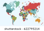 world map countries vector on... | Shutterstock .eps vector #622795214